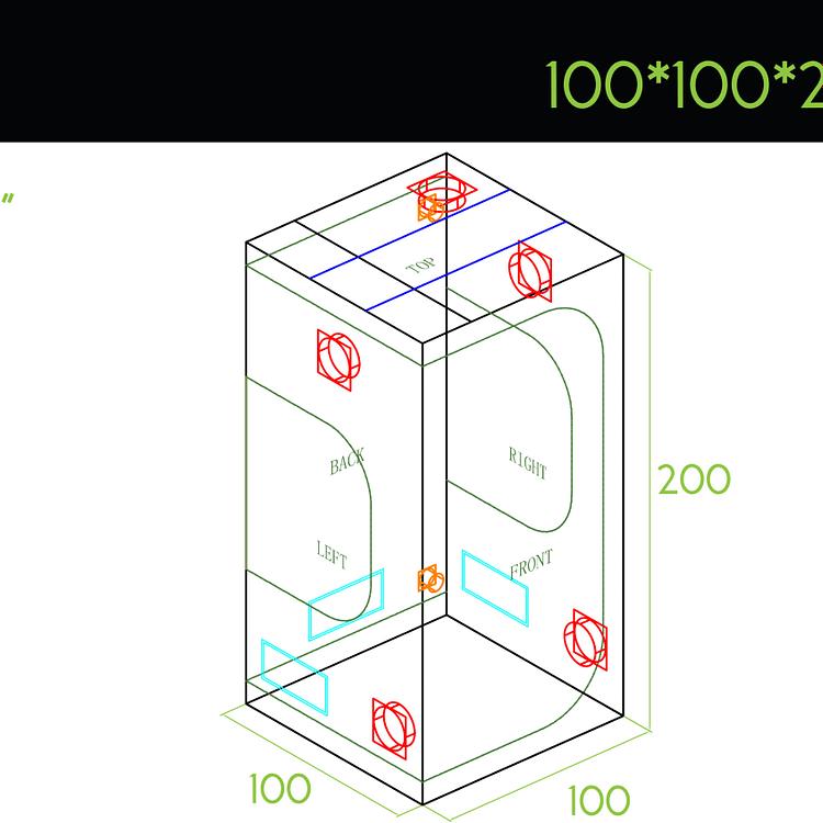 Green Box Tent 100x100x200